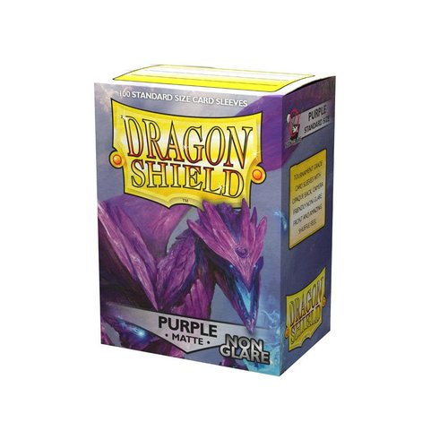 Arcane Tinmen DECK PROTECTOR: DRAGON SHIELD: NON-GLARE PURPLE (100)