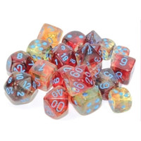 DICE SET 7 NEBULA: PRIMARY / BLUE LUMINARY