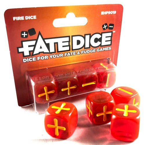 Evil Hat Productions FATE DICE: FIRE (4)