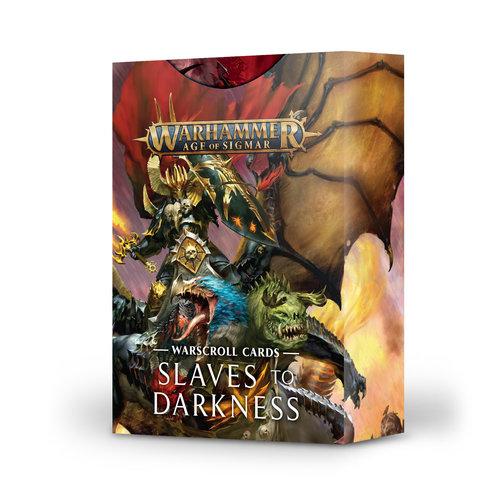 Games Workshop WARSCROLL CARDS: SLAVES TO DARKNESS