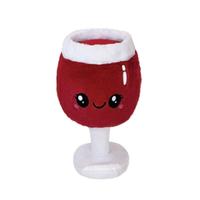 """BOOZY BUDS 12"""" RED WINE GLASS"""