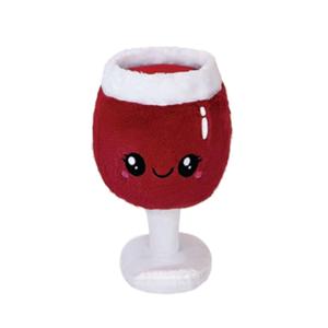 "SQUISHABLE BOOZY BUDS 12"" RED WINE GLASS"