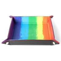DICE TRAY: FOLDING - VELVET RAINBOW