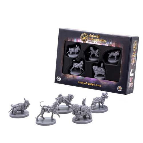 Steam Forged Games MINIS: ANIMAL ADVENTURES: DOGS OF GULLET COVE