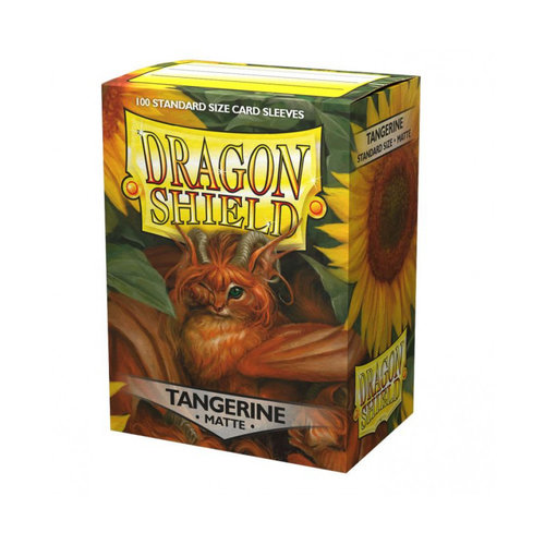 Arcane Tinmen DRAGON SHIELD: MATTE TANGERINE (100)