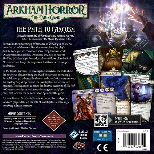 Fantasy Flight Games ARKHAM HORROR LCG: THE PATH TO CARCOSA EXPANSION