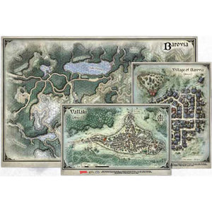 Gale Force Nine D&D 5E: CURSE OF STRAHD - MAP SET