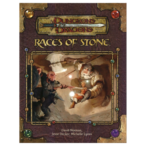 Wizards of the Coast D&D 3.5: RACES OF STONE (Used)