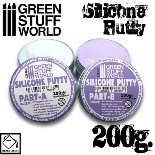 Green Stuff World VIOLET SILICONE PUTTY 200gr