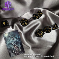 AVALORE DICE SET 7 BLACK DICE SOCIETY