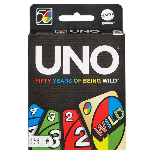 MATTEL UNO CARD GAME - 50TH ANNIVERSARY EDITION