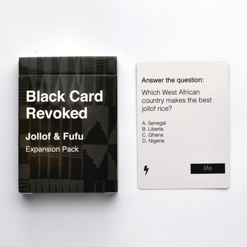 Cards for All People BLACK CARD REVOKED JOLLOF & FUFU