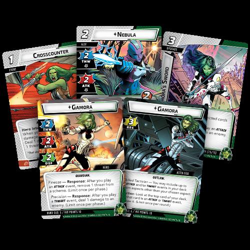 Fantasy Flight Games MARVEL CHAMPIONS LCG: GAMORA  HERO PACK