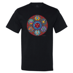 Offworld Designs T-SHIRT STAINED GLASS RPG DICE