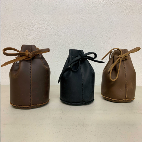 Off Stage Right Leather DICE BAG, GENUINE LEATHER