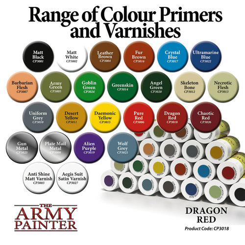 The Army Painter COLOR PRIMER: DRAGON RED