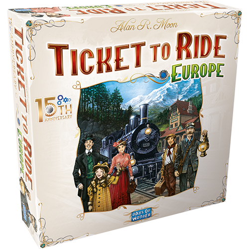 Days of Wonder TICKET TO RIDE EUROPE: 15th ANNIVERSARY EDITION (pre-order)