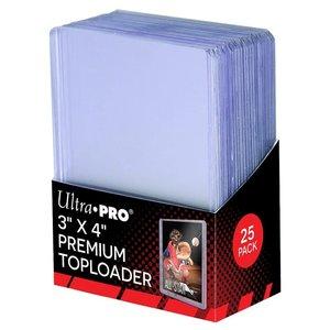 Ultra Pro International DECK PROTECTOR: TOPLOADER - 3X4 CLEAR SUPER (25)