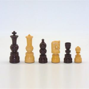 """Worldwise Imports CHESSMEN 4"""" ULBRICH BROWN & NATURAL BOXWOOD 2W"""