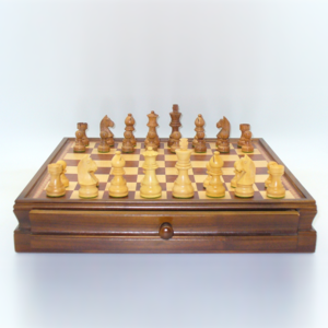 """Worldwise Imports CHESS SET 3"""" GERMAN on 15""""/1.5"""" CHEST"""