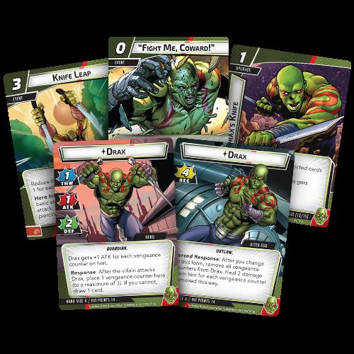 Fantasy Flight Games MARVEL CHAMPIONS LCG: DRAX  HERO PACK