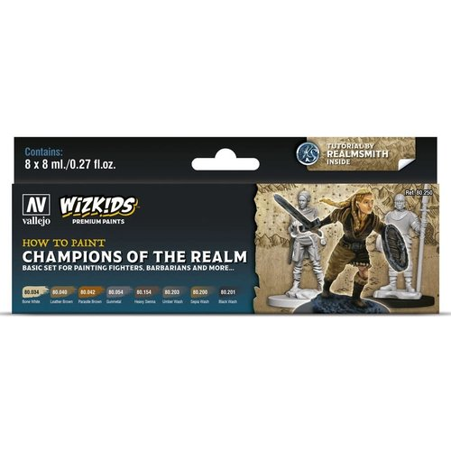 Acrylicos Vallejo, S.L. PREMIUM PAINT SET: CHAMPIONS OF THE REALM
