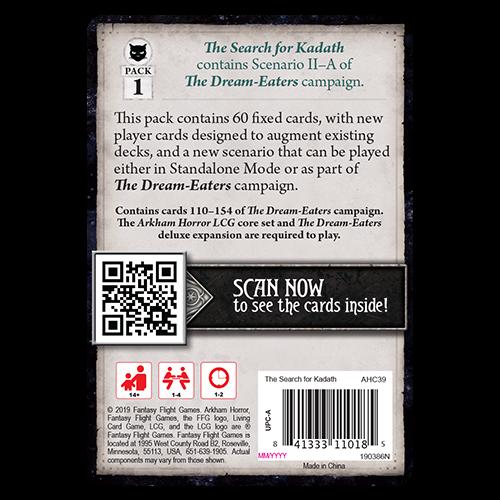 Fantasy Flight Games ARKHAM HORROR LCG: THE SEARCH FOR KADATH MYTHOS PACK