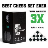 BEST CHESS SET EVER - 3-WEIGHT, BLACK BOARD