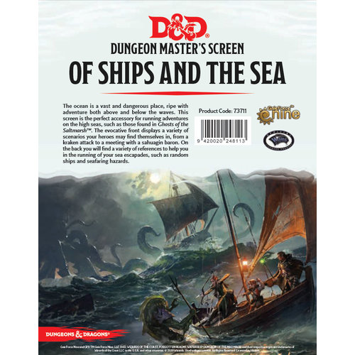 Gale Force Nine D&D 5E: OF SHIPS & THE SEA - DM SCREEN
