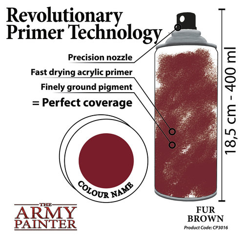 The Army Painter COLOR PRIMER: FUR BROWN