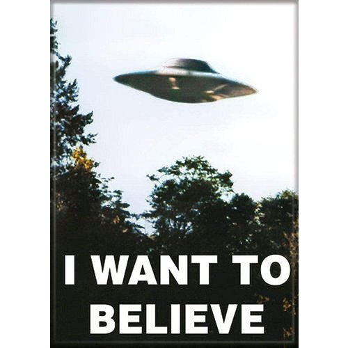 ATA-BOY MAGNET: I WANT TO BELIEVE