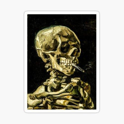 ATA-BOY MAGNET: VAN GOGH SMOKING SKULL