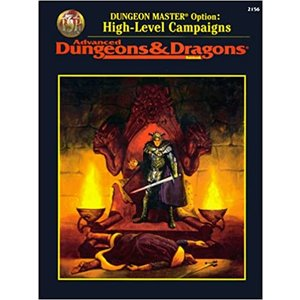 Wizards of the Coast AD&D 2e: DUNGEON MASTER OPTION: HIGH LEVEL CAMPAIGNS (Used)