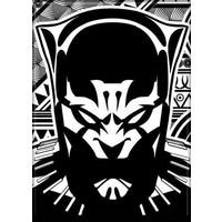 MAGNET: MARVEL - BLACK PANTHER (B&W)