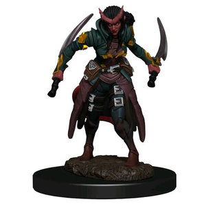 Wizkids MINIS: ICONS OF THE REALMS: TIEFLING FEMALE ROGUE