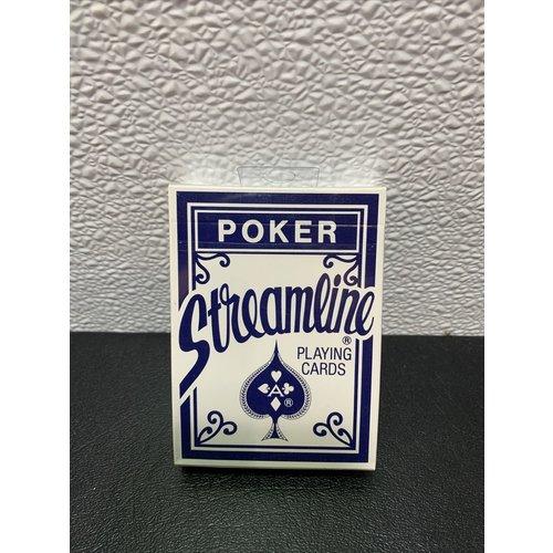 US Playing Card Company STREAMLINE POKER BLUE