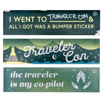CRITICAL ROLE TRAVELER CON BUMPER STICKER 3-PACK SET