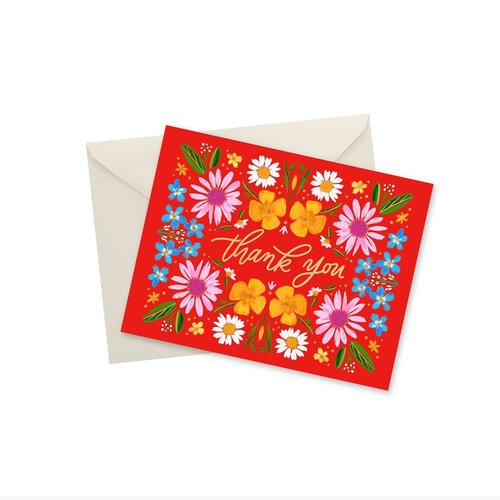 Doodles Ink Designs CARD - THANK YOU MEADOW GOLD FOIL