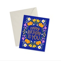 CARD - HAPPY BIRTHDAY TO YOU GOLD FOIL (BLUE)