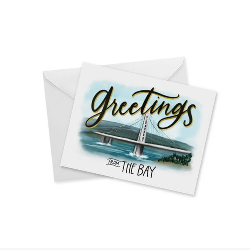Doodles Ink Designs CARD - GREETINGS FROM THE BAY