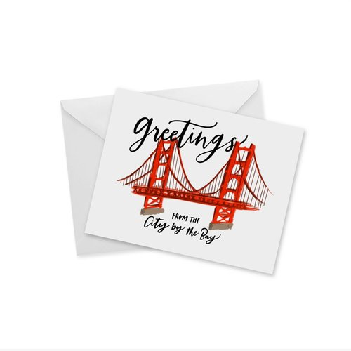 Doodles Ink Designs CARD - GREETINGS FROM THE CITY BY THE BAY (SF)