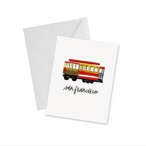 Doodles Ink Designs CARD - CABLE CAR SAN FRANCISCO