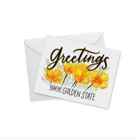 CARD - GREETINGS FROM GOLDEN STATE