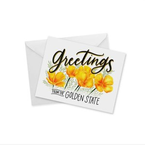 Doodles Ink Designs CARD - GREETINGS FROM GOLDEN STATE
