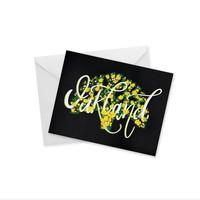 CARD - OAKLAND SCRIPT NOTECARD