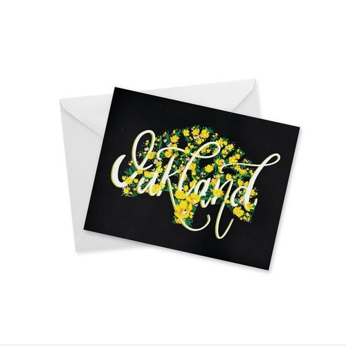 Doodles Ink Designs CARD - OAKLAND SCRIPT NOTECARD