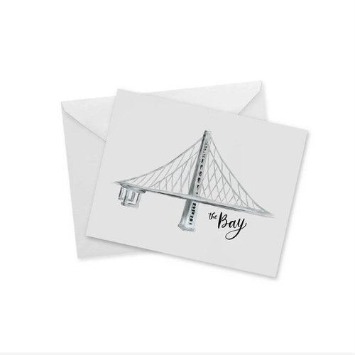 Doodles Ink Designs CARD - THE BAY (BRIDGE)