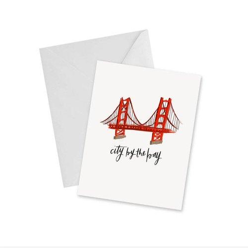 Doodles Ink Designs CARD - GOLDEN GATE BRIDGE (CITY BY THE BAY)