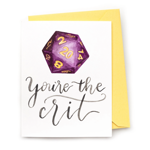 CharmCat CARD - YOU'RE THE CRIT