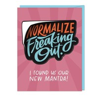CARD - FREAKING OUT STICKER CARD